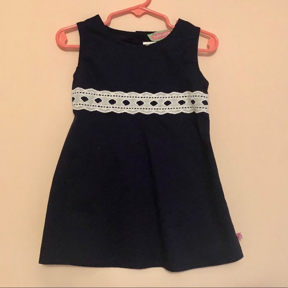 Sophie and Sam Other - Sophie and Sam navy & eyelet lace empire dress